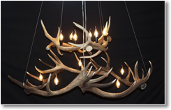 Two Tier Antler Chandelier