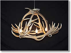 Livingston Bell Antler Chandelier