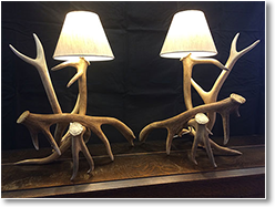 Antler Table Lamp Pair
